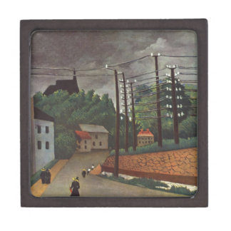 View of Malakoff Hauts de Seine by Henri Rousseau Gift Box