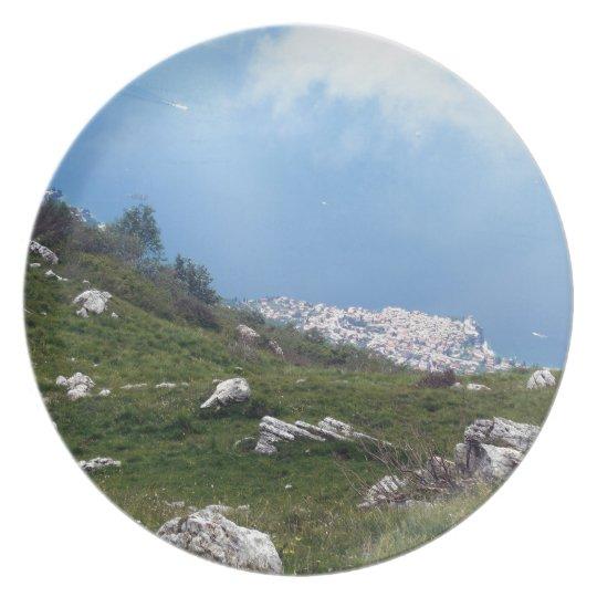 View of Malcesine, Lake Garda Melamine Plate