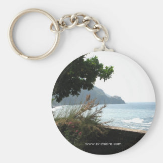 View of Manarola, Italy from Via dell'Amore Basic Round Button Keychain