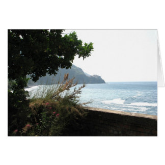 View of Manarola, Italy from Via dell'Amore Card