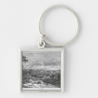View of Manchester, engraved by T.Gustyne Keychain