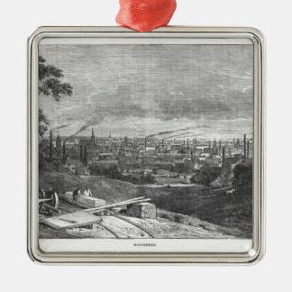 View of Manchester, engraved by T.Gustyne Ornaments