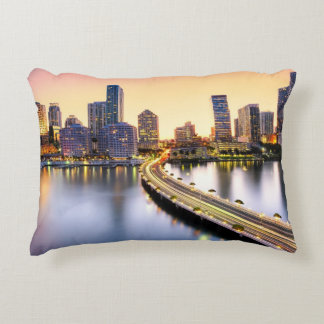 View of Mandarin Oriental Miami with reflection Accent Pillow