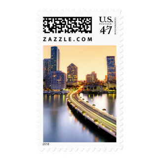 View of Mandarin Oriental Miami with reflection Postage Stamp