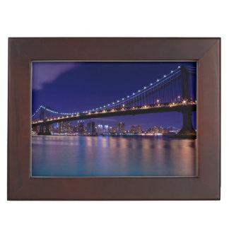 View of Manhattan bridge at night Memory Box