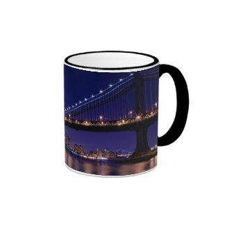 View of Manhattan bridge at night Coffee Mug