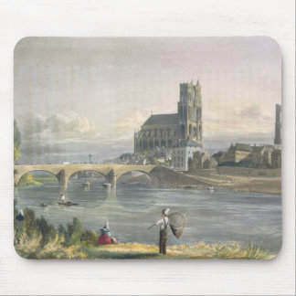 View of Mantes, from 'Views on the Seine', engrave Mouse Pad