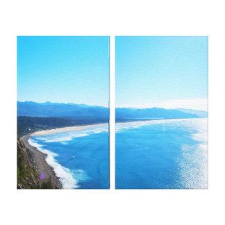 View of Manzanita Beach, Oregon Coast Canvas Print