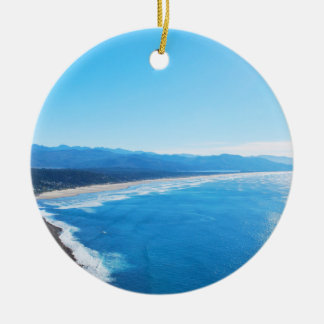 View of Manzanita Beach, Oregon Coast Ornaments