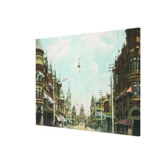 View of Mariposa Street Facing City Hall Gallery Wrap Canvas