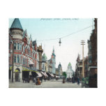 View of Mariposa StreetFresno, CA Stretched Canvas Print