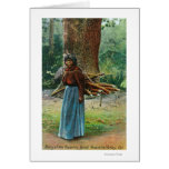 View of Mary of the Yosemite Natives Carrying Card