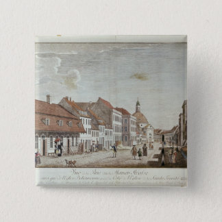View of Mauer Strasse, Berlin, 1776 Pinback Button