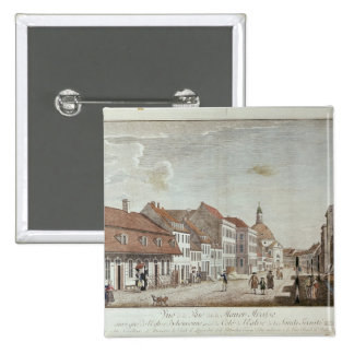 View of Mauer Strasse, Berlin, 1776 Pinback Button