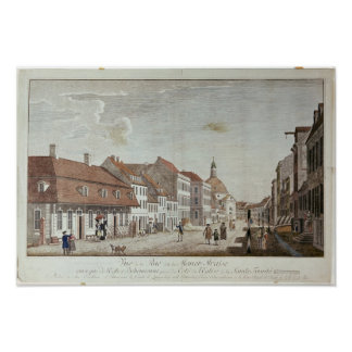 View of Mauer Strasse, Berlin, 1776 Poster
