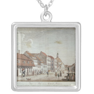 View of Mauer Strasse, Berlin, 1776 Silver Plated Necklace