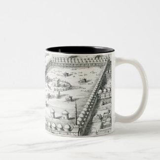 View of Mecca, from 'Entwurf einer historischen Ar Two-Tone Coffee Mug