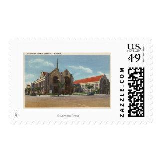 View of Methodist Church Postage