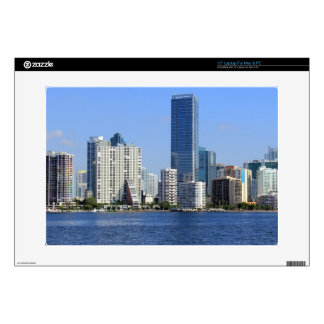 "View of Miami Skyline Decal For 15"" Laptop"