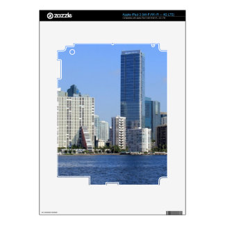 View of Miami Skyline Decal For iPad 3
