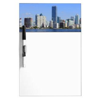 View of Miami Skyline Dry-Erase Board
