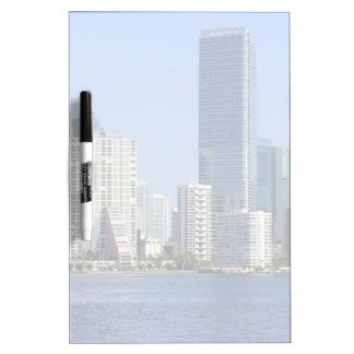 View of Miami Skyline Dry-Erase Boards