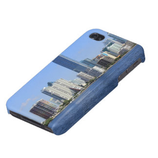 View of Miami Skyline iPhone 4 Case