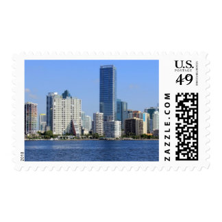 View of Miami Skyline Postage
