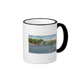 View of Midway Park Beach and Pavilion Mugs