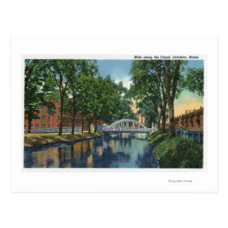View of Mills Along the Canal Postcard