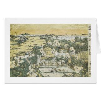 View of Mimeguri, Toyoharu, 1780 Card