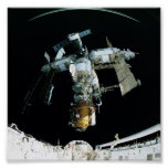 View of Mir Space Station from Shuttle Atlantis Print