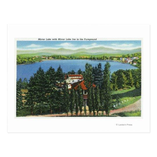 View of Mirror Lake and Mirror Lake Inn Postcard