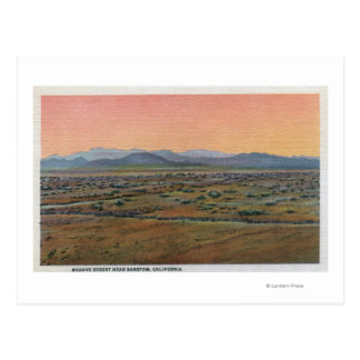 View of Mohave Desert Postcard