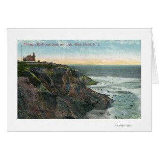 View of Mohegan Bluffs and Southeast Greeting Card