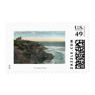 View of Mohegan Bluffs and Southeast Postage Stamp