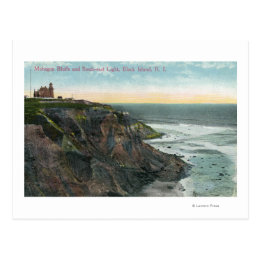 View of Mohegan Bluffs and Southeast Postcard