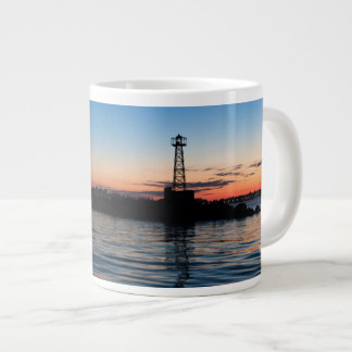 View Of Montevideo At Dawn, Uruguay Giant Coffee Mug