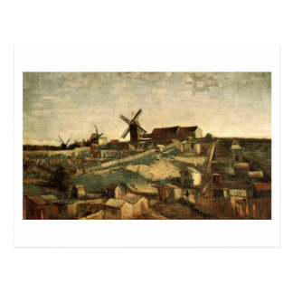 View of Montmartre & Windmills Van Gogh FIne Art Postcard