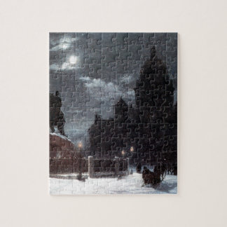 View of monument to Peter I on the Senate Square Jigsaw Puzzle