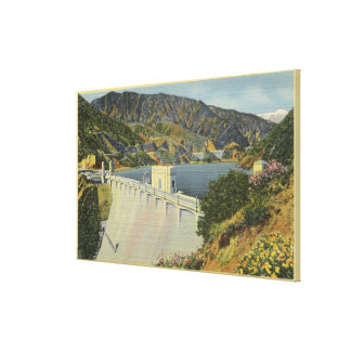 View of Morris San Gabriel Dam Stretched Canvas Print