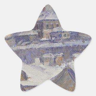 View of Moscow by Vasily Surikov Star Sticker