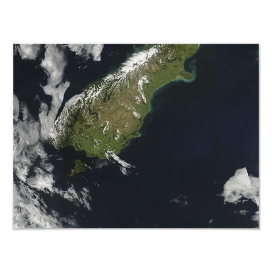 View of most of the South Island of New Zealand Photo Print