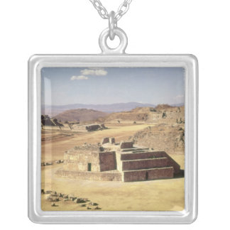 View of Mound J, built c.200 BC Silver Plated Necklace