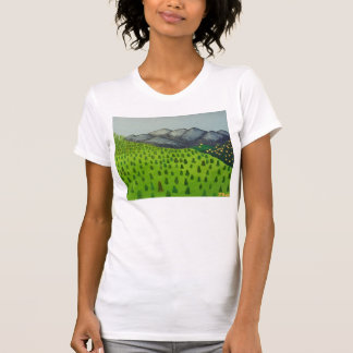 View of Mount Baldy Shirt Painting by Julia Hanna