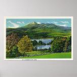 View of Mount Chocorua and Lake Print