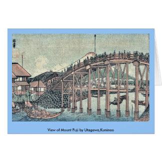 View of Mount Fuji by Utagawa,Kuninao Greeting Card