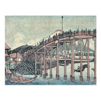 View of Mount Fuji by Utagawa,Kuninao Postcard