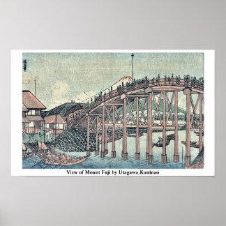 View of Mount Fuji by Utagawa,Kuninao Poster
