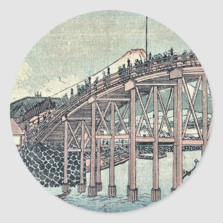 View of Mount Fuji by Utagawa,Kuninao Classic Round Sticker